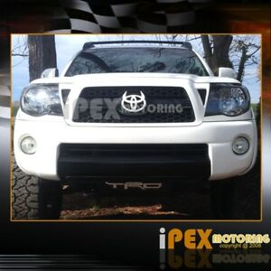 For All 2005 2011 Toyota Tacoma Trd Style Black Headlights New Headlamps Set