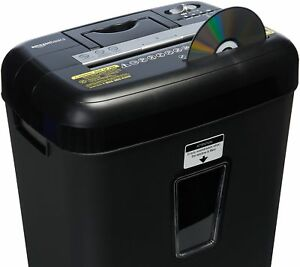 Amazonbasics 12 Sheet Cross cut Paper cd Credit Card Shredder Black