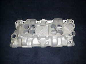 Vintage Weiand Small Block Chevy Low Rise 2x4 Dual Four Intake Manifold 327 350