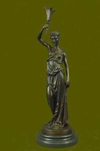 Huge Sale Roman Bronze Of The Nude Goddess Venus Aphrodite Very Heavy Figurine