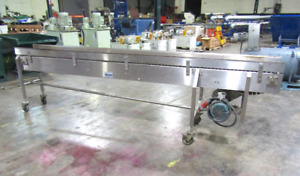 Nercon 12 In Wide X 10 Ft Long Stainless Steel Table Top Conveyor 1hp 208 460v