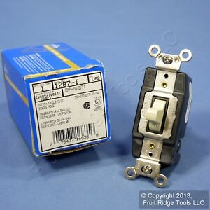Leviton Ivory Spdt 1 pole Maintained Contact Center off Toggle Switch 30a 1287 i