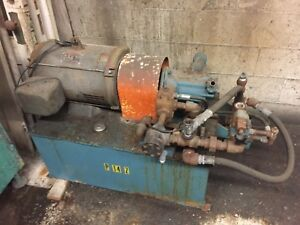 15hp Dayton Hydraulic Power Pumping Unit 40 Gal 230 460v Vickers Pump Hydraulics
