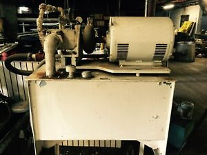 15hp Baldor Hydraulic Power Pumping Unit 40 Gal 230 460v Vickers Pump Hydraulics