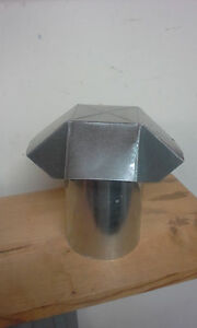 Roof Vent Cap Fits 6 Inche Round Pipe Custom Made Galvanized Steel Sheet Metal