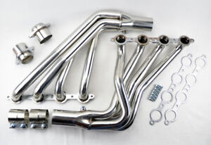 Long Tube Stainless Steel Headers W Extension For Pontiac G8 08 09 6 0l 6 2l