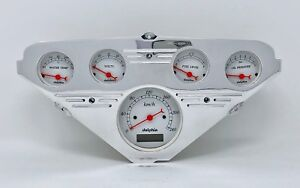 1955 1956 1957 1958 1959 Chevy Truck 5 Gauge Dash Cluster Metric White