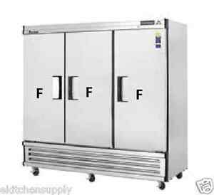 Everest Esf3 75 Reach in Freezer With 3 Doors Stainless Steel