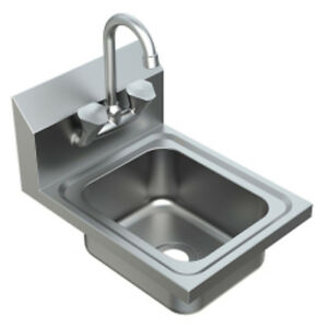 New Stainless Steel Wall Mount Hand Sink With Faucet Model Pswh 8000c
