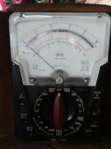 Vintage Triplett 630 apl Multimeter Volt Ohms Great Shape Case Wires Manual Usa