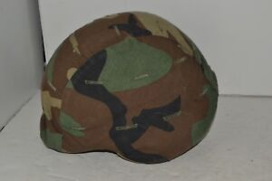 U.S. Military Pasgt Kevlar Ballistic Helmet with Camouflage Cover
