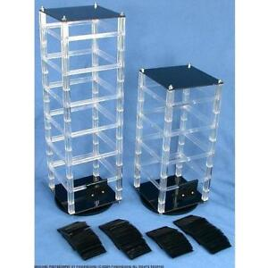 2 Revolving Rotating Jewelry Display Stands With 100 2 Black Earring Cards