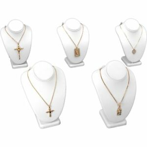 5 Pc White Necklace Bust Jewelry Chain Display 6 1 4