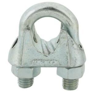 50 galvanized Malleable Iron 5 8 Wire Rope Cable Clip Clamp T7670489