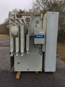 Abb Substation Transformer 750 Oa 862 Fa Kva Primary 4160 Taps Sec 480y 277