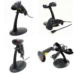 Barcode Scanner Usb Automatic Scanning Bar Code Reader With Hands Free Stand