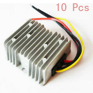 10x Set Dc 36v To 12v 10a 120w Golf Cart Voltage Reducer Converter Power Supply