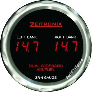 Zeitronix Zt 4 Dual Wideband O2 Sensor Air Fuel Ratio Zr 4 Gauge Afr Made Usa