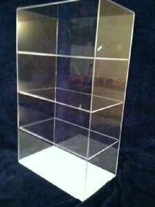 Acrylic Display Case Countertop 12 X 7 X 20 5 different Shelf Spacing Tabletop
