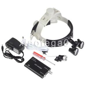 Dy 108 Dental 3 5x Surgical Medical Binocular Loupes Headband Led Headlight Us