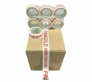 6 Rolls Fragile Carton Packing Sealing Tape 2 Inch X 55 Yards 165 Ft Ea Roll