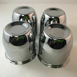 Set Of 4 Chrome 4 25 Push Through Center Caps Fit 5x5 5 6x5 5 Wheels C102