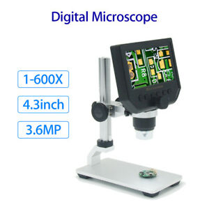 Digital 600x 4 3 Lcd Display Microscope Magnifier Endoscope Professional Camera