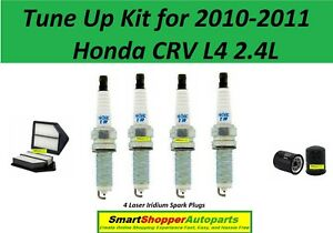 Tune Up Kit For 2010 2011 Honda Crv L4 2 4l Spark Plug Air Filter Oil Filter