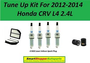 Tune Up For 2012 2013 2014 Honda Crv L4 2 4l Air Filter Oil Filter Spark Plugs