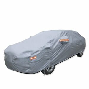 Breathable Universal Fit Car Cover All Weather Outdoor Indoor Full Waterproof He