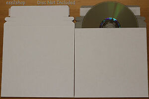 500 Cd Dvd Generic White Cardboard Envelope Self Adhesive Mailers 6 x6