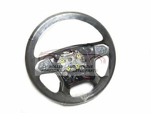 Chevrolet Silverado Leather Steering Wheel Brown W Gray Stitch New Oem
