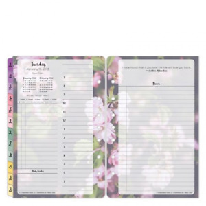Classic Blooms Daily Ring bound Planner Jan 2018 Dec 2018