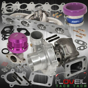 1 8t Audi Exhaust Manifold Turbo Oil Cooled Horz Wg Velocity Stack Purple
