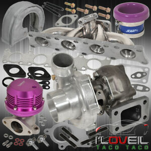 1 8t Stainless Manifold Turbo Wg Bypass Velocity Air Stack Heat Cover Purple