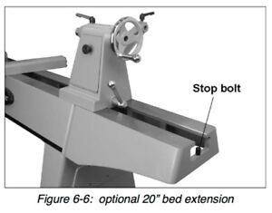 Powermatic 1353002 Powermatic 3520c Bed Extension 20in