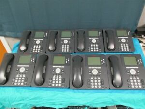 Lot Of 8 Avaya 9630g Ip Voip System Phones W stands And Handsets Tested