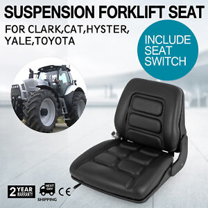 Universal Vinyl Forklift Suspension Seat Fit Clark Toyota High New Good Durable