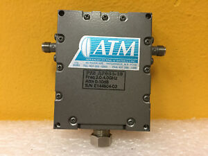 Atm Af084 10 2 To 4 Ghz 0 To 10 Db 1 Ch Sma f Variable Attenuator New