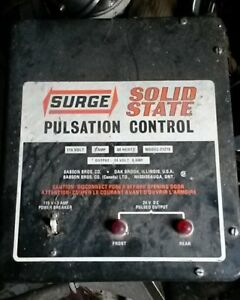 Surge Solid State Pulsation Control Milk With Pulsators