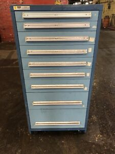 Stanley Vidmar 9 Drawer Tool Cabinet Shop Equipment Storage Box