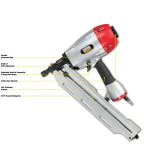 21 Angle Full Head Framing Air Nailer Lightweight For Less Fatigue During