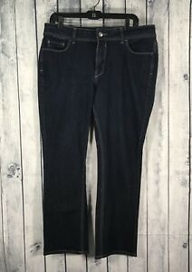 Riders by Lee Womens Size 16P Petite Bootcut Dark Wash Denim Jeans