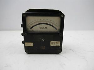 Vintage Western Electrical Instrument Corp Model 433 Volt Meter Ac 25 125 Analog