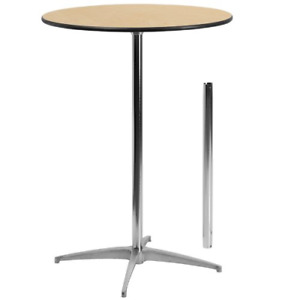 Flash Furniture 30 Round Wood Cocktail Table With 30 And 42 Columns