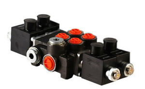 2 Spool Hydraulic Solenoid Directional Control Valve 13gpm 12v Sae Ports 2z50