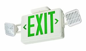 Lithonia Lighting Ecg Led Emergency Exit Sign Light Green Letters