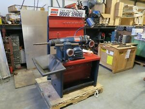 Ammco 4000 Disc And Drum Brake Lathe W Stand Adapters Great Condition
