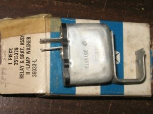 Nos Mopar 1971 Chrysler Imperial Headlamp Washer Relay Bracket