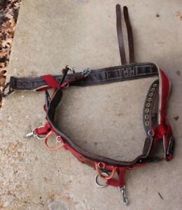 Weaver Model 1035 Md Climbing Saddle Belt Arborist Tree Harness